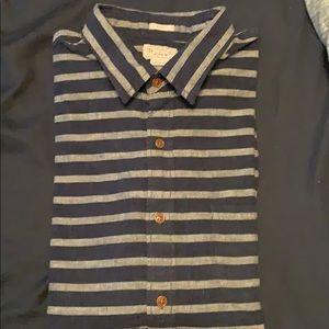JCrew navy striped long sleeve shirt